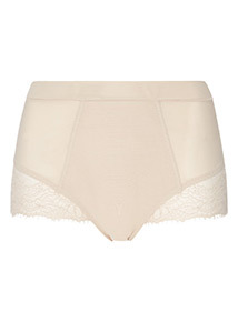 Natural Mesh and Eyelash Lace Firm Control Briefs
