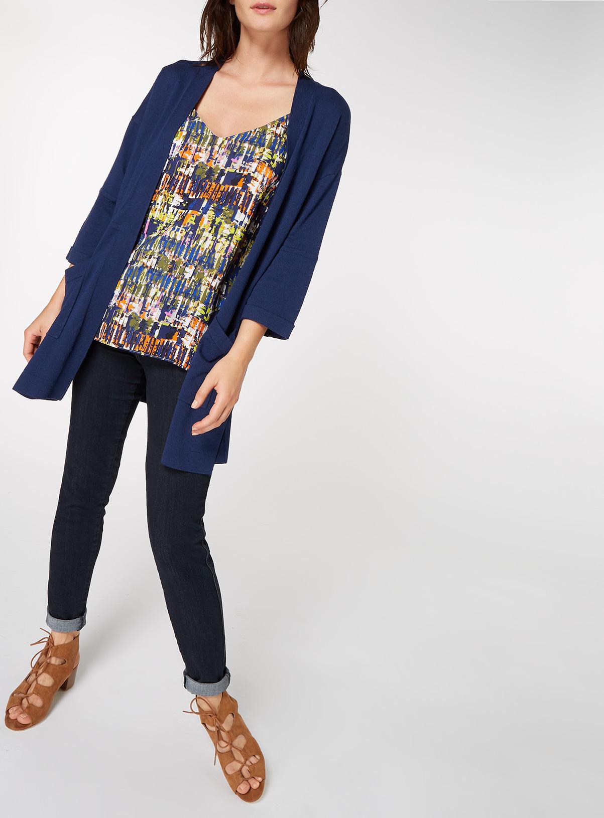 Womens Navy Longline Cardigan | Tu clothing