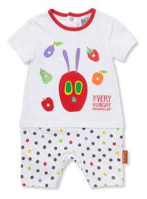 White 'The Very Hungry Caterpillar' Romper (Newborn-18 months)