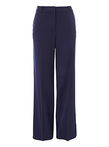 Online Exclusive Navy Wide Leg Trousers