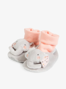 Grey Elephant Pop Ons (0-2 years)