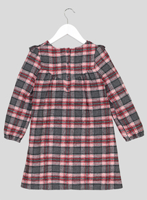 Red Woven Check Dress (9 Months - 6 Years)