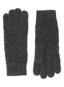 Lurex Knitted Gloves