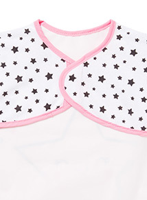 Pink Star Long Sleeve Bib
