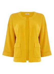 Yellow Structured Boxy Jacket