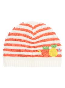 Girls Pink Fruit Hat (0-24 months)
