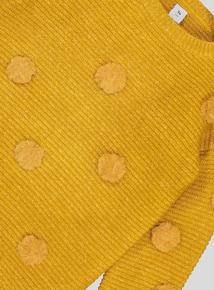 Mustard Knitted Pom Pom Jumper (3-14 years)