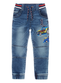 Blue Car Ribwaist Jean (9 months-6 years)