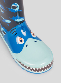Blue Shark Wellies (6 infant - 4 child)