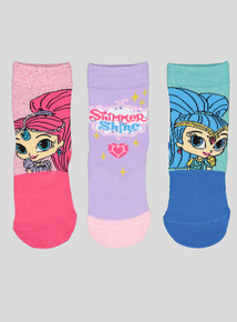 Shimmer & Shine Multi Socks 3 Pack (3 Infant - 5.5 Adult)