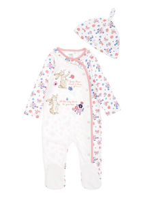 White Guess How Much I Love You Sleepsuit with Hat (0-24 months)
