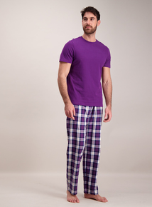 Purple Check Pyjama 2 Piece Set