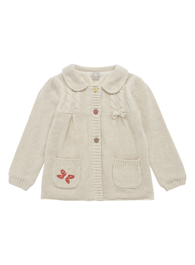 3a8a833ff Baby Girls Cream Knitted Bow Cardigan (0-24 months)