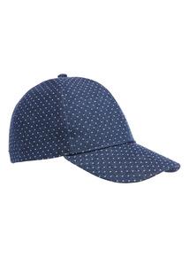 Navy Spot Baseball Cap