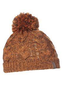 Boys Orange Cable Knit Hat
