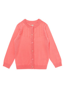 Girls Pink Cardigan (9 months-6 years)