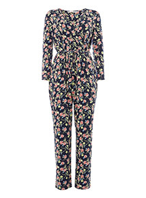 Multicoloured Floral Printed Jumpsuit