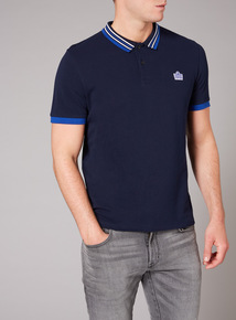 Admiral Navy Stripe Collar Polo