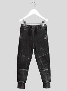 Black Acid Wash Joggers (3-14 years)