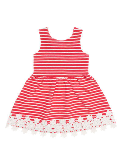 Pink Striped Dress (9 months - 6 years)