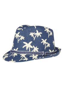 Navy Palm Tree Trilby (1-9 years)