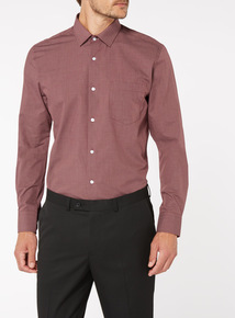 Dark Red Tailored Fit Shirts 2 Pack