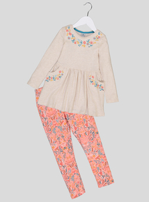 Multicoloured Tunic & Leggings Set (9 months - 6 years)