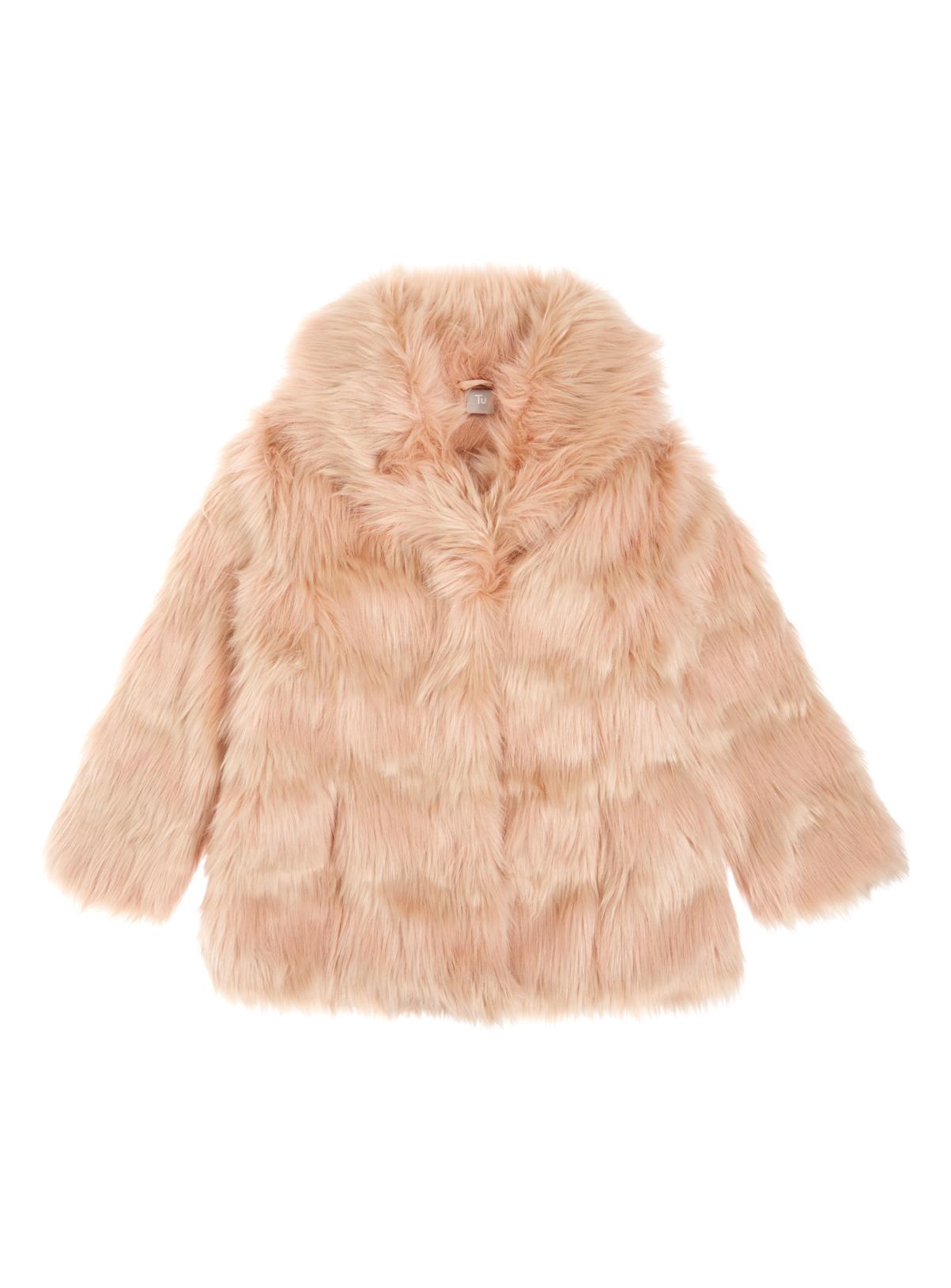 All Girl's Clothing Girls Pink Faux-Fur Coat (3-12 years)   Tu ...
