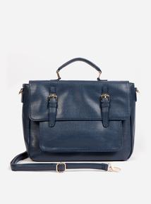 Blue Satchel Shoulder Bag