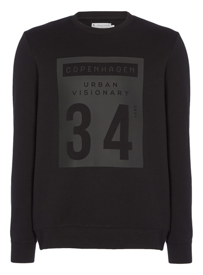 Black Printed Jumper