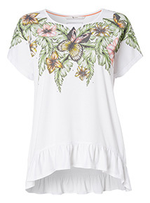 Tropical Floral Short-Sleeve Top