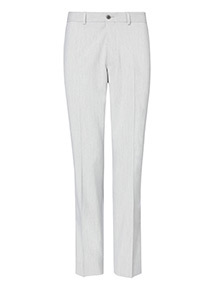 Light Grey Marl Tailored Fit Trousers With Stretch