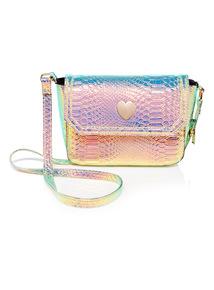 Multicoloured Mini Me Heart Clasp Bag