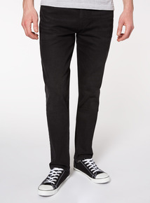 Black Straight Leg Jeans With Stretch