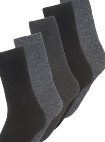 Black And Grey Outdoor Socks 3 Pack