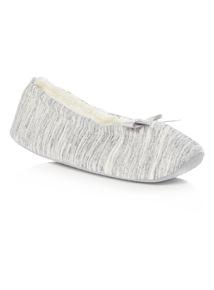 Grey Stripe Jersey Ballerina