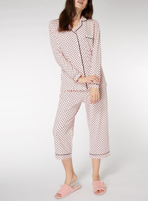 Polka Dot Traditional Pyjama Set