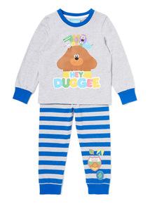 Grey And Blue 'Hey Duggee' Pyjama Set (1-6 years)