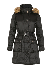 DAVID BARRY Black Padded 3/4 Coat