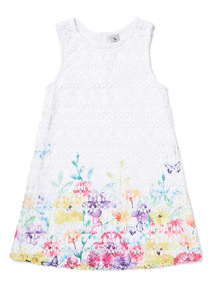 Multicoloured Floral Lace Shift Dress (3-14 years)
