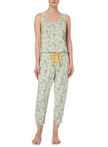 Jungle Leaf Print Jumpsuit