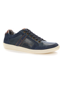 Navy Leather Lace Up Shoes