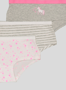 Unicorn Print Shorts 5 Pack (5-14 years)