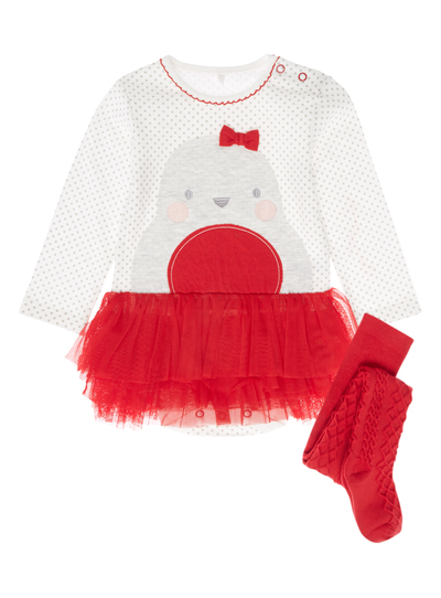 e10848d888d4 Baby Girls White Robin Bodysuit and Tights (0-24 months)
