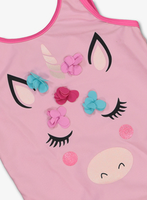 Pink Unicorn Swimming Costume (1-8 years)