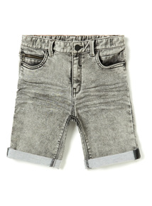 Grey Denim Loopback Shorts (3-14 years)