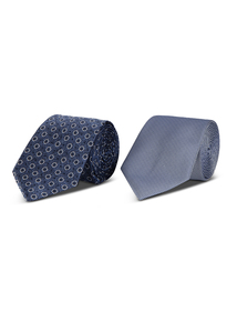 Blue Geometric Patterned Ties 2 Pack