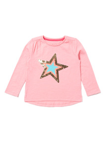 Pink 'Wow' Sequin Top (9 months-6 years)