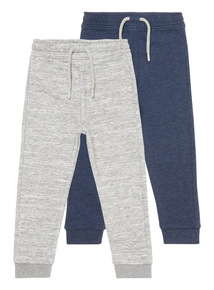 Boys Multicoloured Joggers 2 Pack (9 months- 6 years)