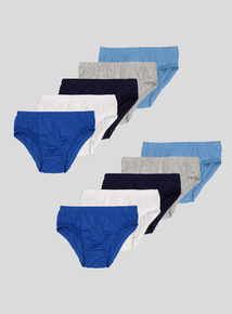 Multicoloured Briefs Blues 10 Pack (2-12 years)